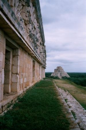 Uxmal built by Mayan's using wood & stone tools.